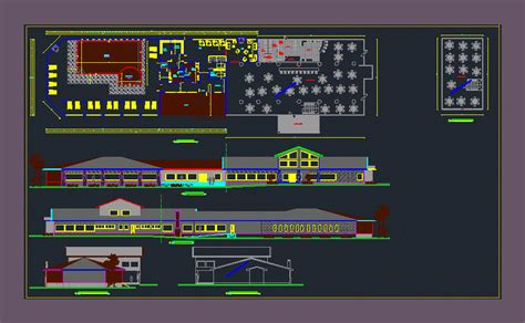 center  special   dwg design plan  autocad
