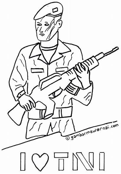 Coloring Gambar Tentara Mewarnai Pages Drawing Kartun