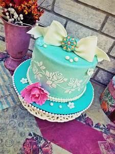Vintage Birthday Cake - CakeCentral.com