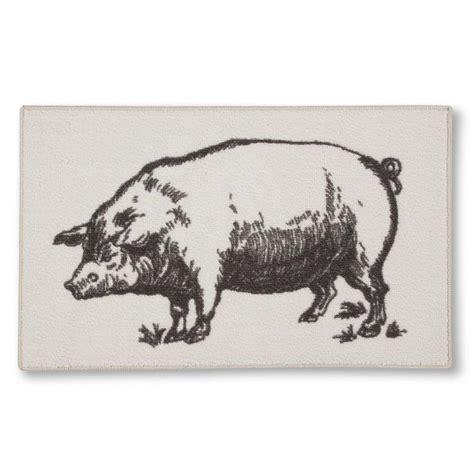 threshold grey  ivory pig kitchen rug
