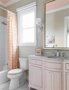 pink and gray kid bathroom color scheme traditional With pink and gray bathrooms