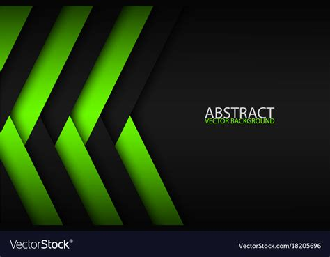 Abstract Black Vector Background by Abstract Background With Green And Black Layers Vector Image