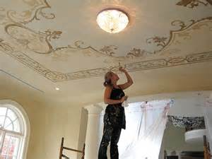 Ceiling Stencils by Maggie O Neill Modello Vinyl Stencil Ceiling Paint Pattern