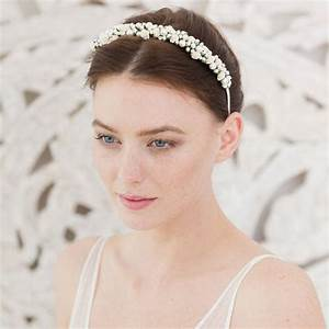 Wedding Headband Rose And Pearl By Britten Weddings