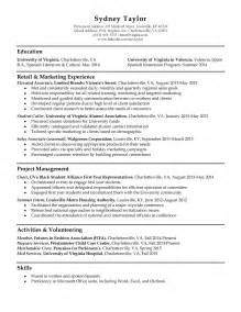 Resumes Exles by Resume Sles Uva Career Center