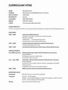 Lebenslauf auf englisch inkl muster for Bundeswehrzeit im lebenslauf