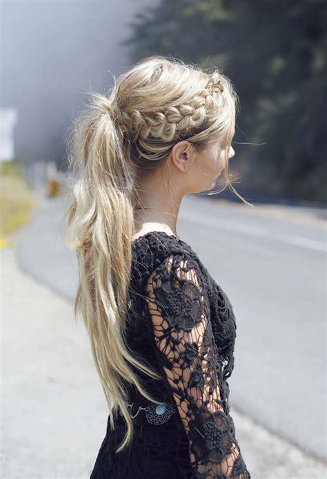 easy ponytail  long hair hairstyles pinterest