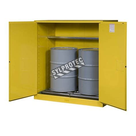 flammable liquid storage cabinet canada justrite vertical drum storage cabinet for flammable liquids