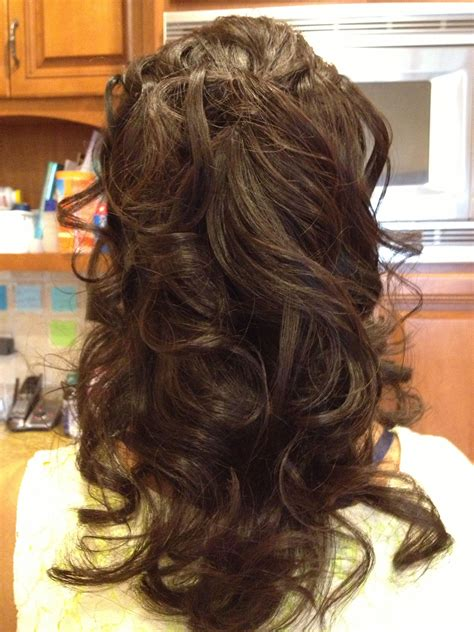 Wavy Half Updo Hairstyles by Wavy Hairstyle Half Updo Hair Styles Hair Styles Hair