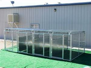 4 run dog kennel 539x1039x639 sides roof fight guard divider With 4 run dog kennel