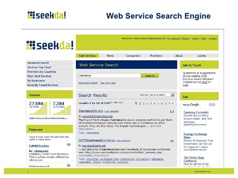 Search Engine Services by Web Service Search Engines Enabling Of Service Commerce