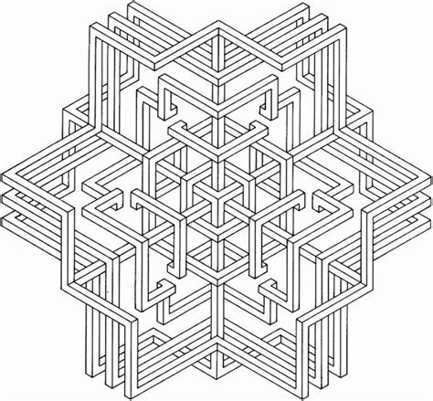 geometric designs to color complex geometric coloring pages coloring home