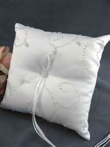 Beaded Elegance Wedding Ring Bearer Pillow