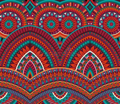 tribal ethnic background seamless pattern stock vector