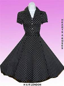robe pin up retro 5039s rockabilly pois noir robe With robe a pois femme