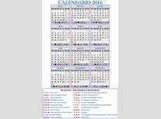 2016 Calendario laboral Download 2019 Calendar Printable