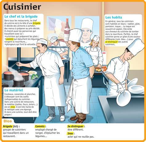fiche metier commis de cuisine autour de la gastronomie cuisinier fiche du métier