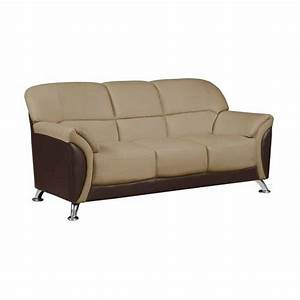 Global furniture usa leather sofa in cappuccino 525117 for Leather sectional sofa usa