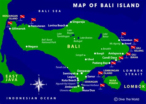 map  bali indonesia scuba diving bali scuba