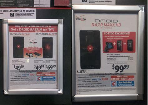 costco verizon phone deals costco has the razr maxx hd plus car dock and for 99