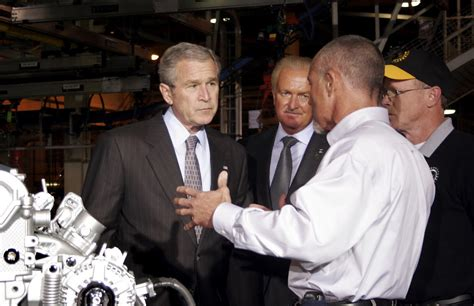George W Bush Says He Would Bail Out Us Carmakers Again