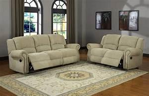 Homelegance Quinn Reclining Sofa Set Olive Beige