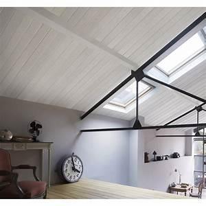 Lambris Pvc Pour Plafond : lambris pvc bois fin blanc grosfillex country cm x l ~ Dailycaller-alerts.com Idées de Décoration