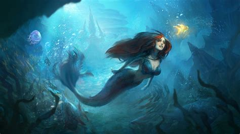 Beautiful Mermaids Animated Wallpaper - mermaid underwater world hd wallpaper