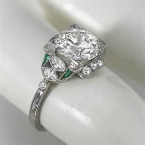 estate jewelry engagement rings antique 2 53ct emerald engagement ring new york estate jewelry