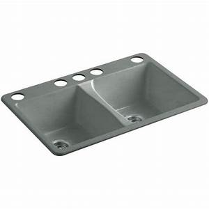 Kohler Deerfield U00ae Undermount Cast Iron Kitchen Sink K