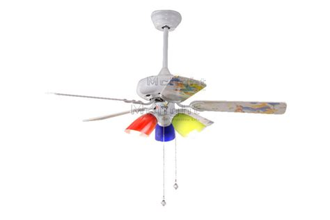 Colorful Ceiling Fan With Light Kits For Children Room