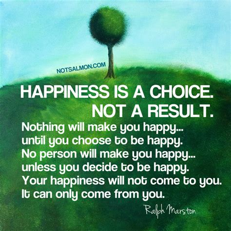 happiness   choice   result