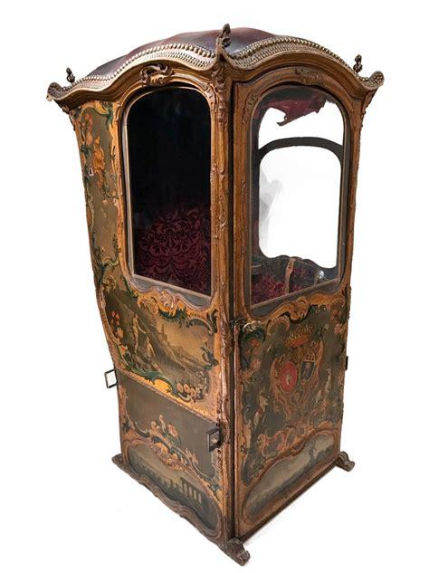 chaise a porteur chaise à porteur au vernis martin à fond d or