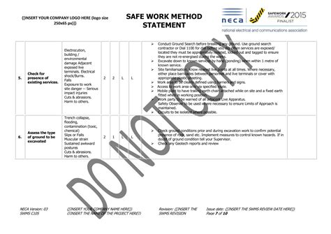 excavation swms neca safety specialists