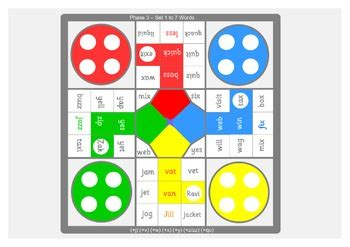 size phonics letters  sounds board games  phase
