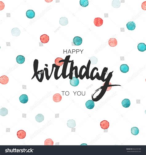happy birthday card template poster handwritten stock