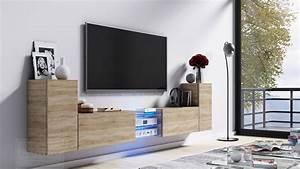Design Tv Möbel Lowboard : kaufexpert tv lowboard galaxy sonoma eiche mdf design board hifi tisch beleuchtung modern ~ Markanthonyermac.com Haus und Dekorationen