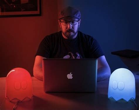 Pac-man Multi-color Ghost Lamp » Gadget Flow
