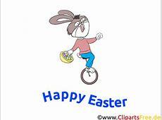 Lustige Bilder zu Ostern Osterhase fährt Fahrrad Clipart