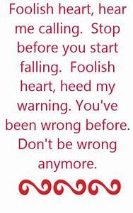 Steve Perry - F... Heart Lyrics Quotes
