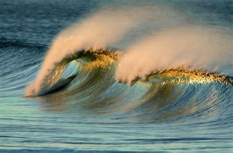 beautiful   ocean waves captured  long lens
