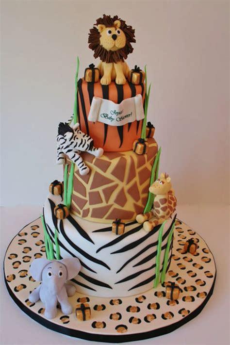 Animal Jungle Safari Theme Kids Birthday Party Cakes And