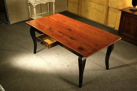 pine dining table  black french legs ecustomfinishes