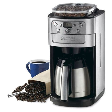 With a blade grinder it will be impossible to achieve a consistent grind. Cuisinart Grind & Brew Thermal Automatic Coffee Maker with Burr Grinder, 12 Cup | Cutlery and More