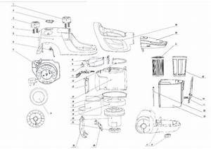 Zanussi Zan7635  90025778100  Vacuum Cleaner Internal Parts Spare Parts Diagram