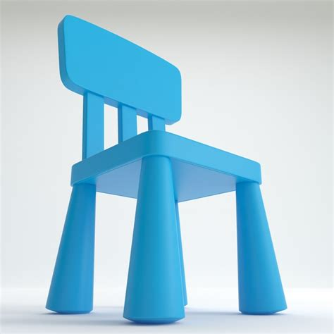 Ikea Mammut Stuhl by Mammut Chair Ikea 3d Model
