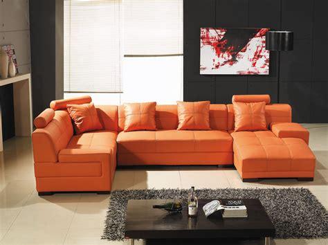 Ses Sofas by Deco In Paris Canape D Angle Capitonne Cuir Orange
