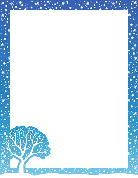 printable winter bulletin board borders printable