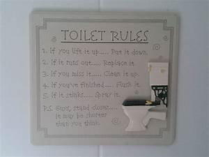 Bathroom cleanliness rules tags funny pictures for Funny bathroom jokes