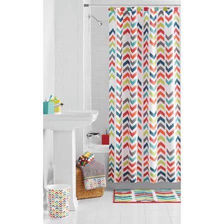 chevron curtains walmart mainstays multi chevron shower curtain walmart